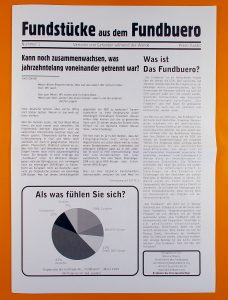 First edition of the newspaper Fundstuecke aus dem Fundbuero