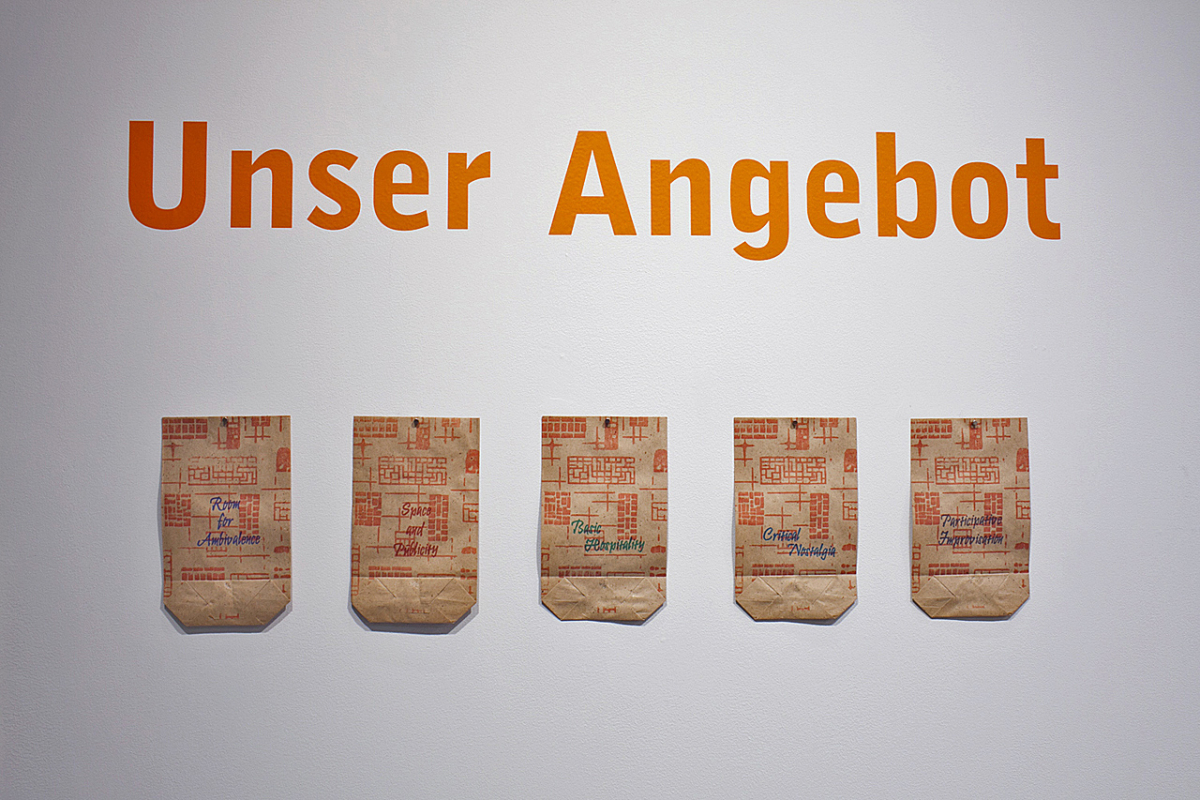 1000 Little Things, installationview of Unser Angebot