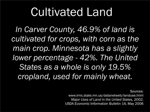 Cultivated Land Sign sm