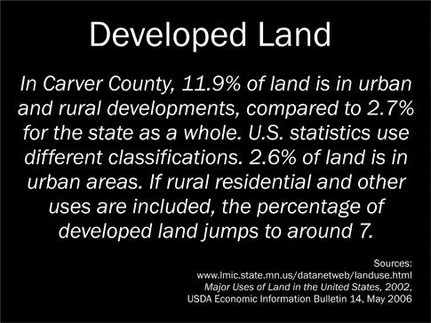 Developed Land Sign