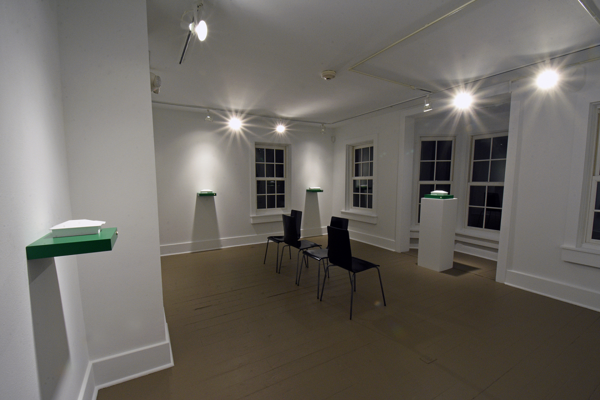 Fridley Stories, Installation view of house models