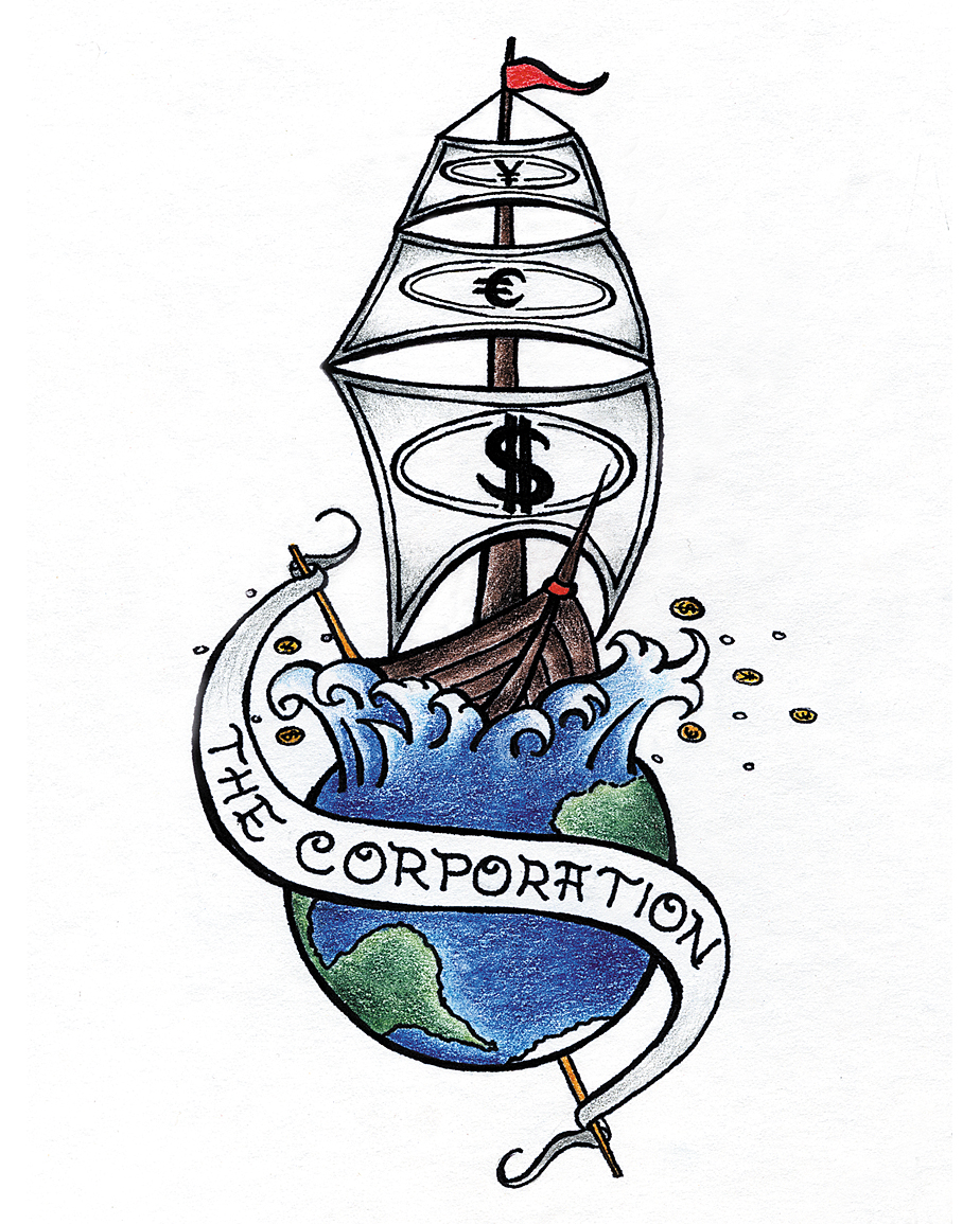 SurfaceMarks tattoo design: The Corporation