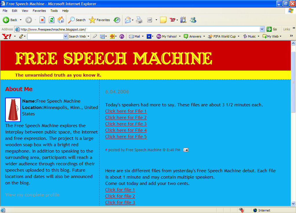 Free Speech Machine blog