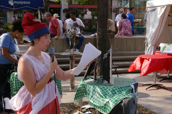 Free Speech Surrogate performance in Minneapolis for the UnConvention in 2008