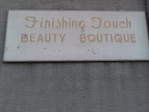 Beauty Shop sign in Baltimore
